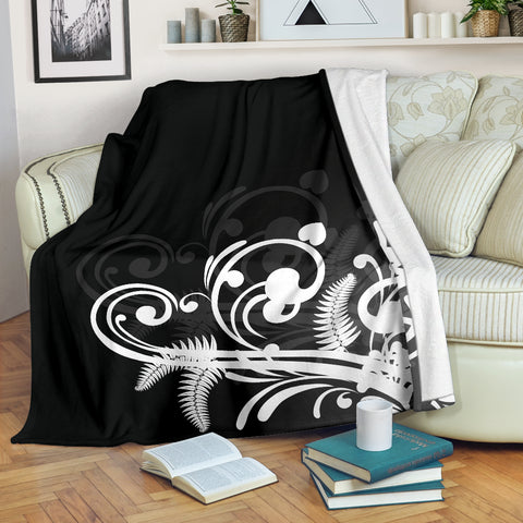Silver Fern New Zealand Blanket - White - 1st New Zealand