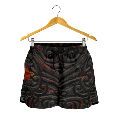 Image of New Zealand Warriors Women's Shorts Maori Tiki Vocalno Style Th00 - 1st New Zealand