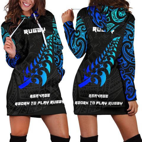 Image of New Zealand Maori Rugby Lion Hoodie Dress K5 - 1st New Zealand