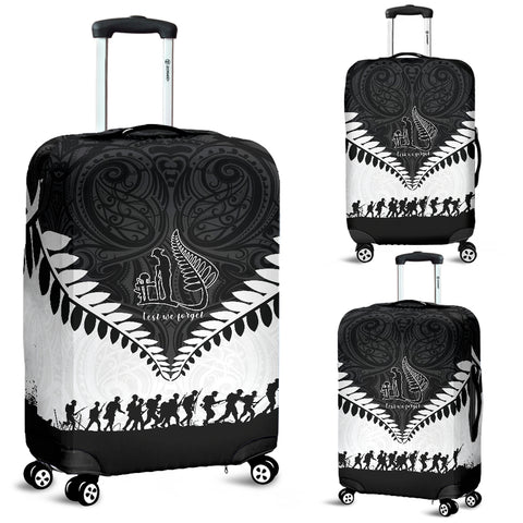 Image of New Zealand Anzac Day   Luggage Covers, Lest We Forget Silver Fern K4 - 1st New Zealand