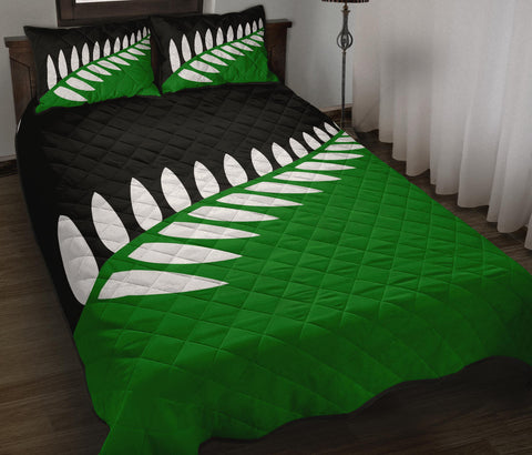 New Zealand Flag Fern Green Black and White Quilt Bedding Sets K5 - 1st New Zealand