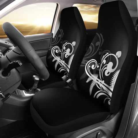 Silver Fern New Zealand Car Seat Covers - Black L15 - 1st New Zealand