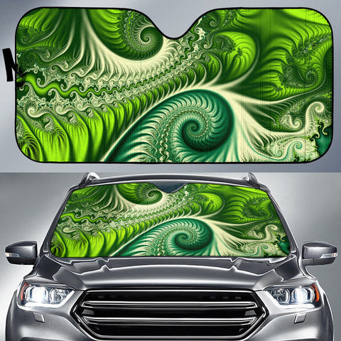 Image of New Zealand Auto Sun Shades Koru Fern - Abstract Style K4 - 1st New Zealand