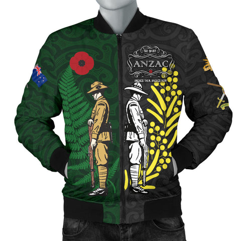 Anzac Spirit, Lest We Forget Men Bomber Jacket K5 - 1st New Zealand