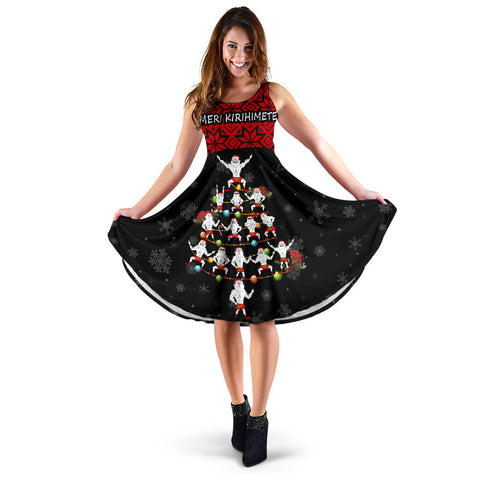 New Zealand Christmas Women Dress Haka Tree K4 - 1st New Zealand
