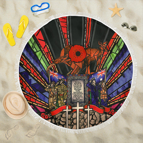 Image of New Zealand Beach Blanket, Anzac Day Lest We Forget Th00 - 1st New Zealand
