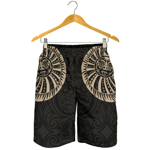 New Zealand Maori Shorts, Maori Warrior Tattoo Men Shorts - Tan K5 - 1st New Zealand