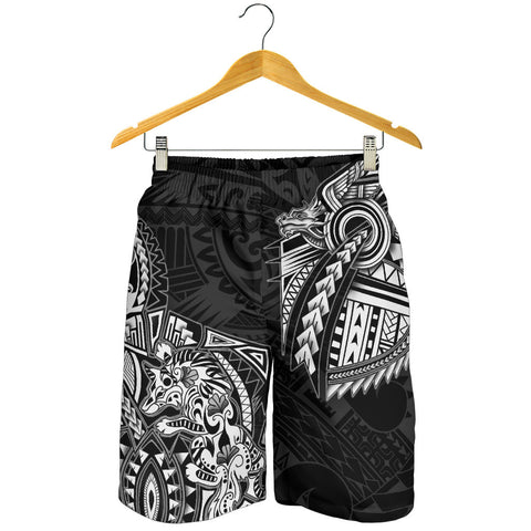 New Zealand Maori Polynesian Wolf Dragon Tattoo Men Shorts - White | 1st New Zealand
