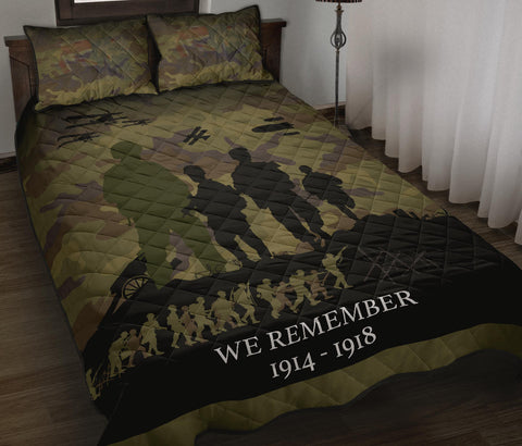We Remember Anzac Camo New Zealand Quilt Bed Set K5 - 1st New Zealand