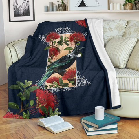 Tui Pohutukawa New Zealand Blanket - Navy K5 - 1st New Zealand