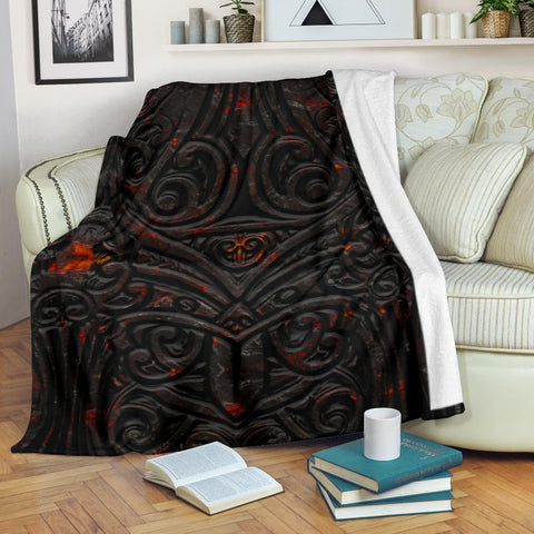 New Zealand Warriors Premium Blanket Maori Tiki Vocalno Style Th00 - 1st New Zealand
