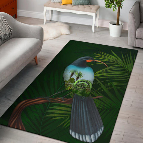 Huia Bird New Zealand Area Rug K5 - 1st New Zealand