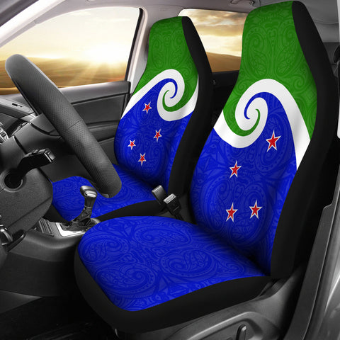 New Zealand Koru Flag Car Seat Covers K4 - 1st New Zealand