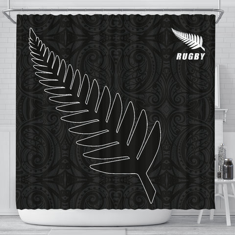 Image of Silver Fern Rugby Shower Curtain K40