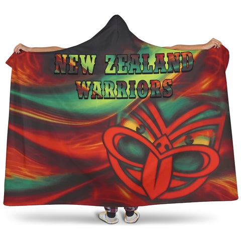 Image of New Zealand Warriors Hooded Blanket Fire K4 - 1st New Zealand