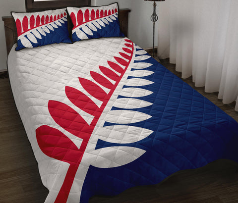 New Zealand Flag Unity Fern Red and Blue Quilt Bedding Sets K5 - 1st New Zealand