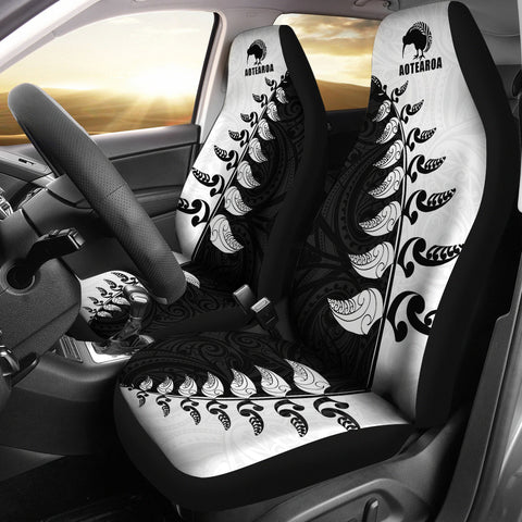 Aotearoa Koru Silver Fern Car Seat Covers K4 - 1st New Zealand