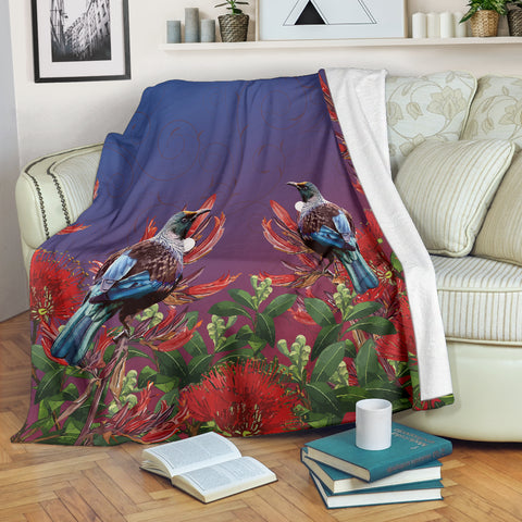 New Zealand Pohutukawa With Tui Bird Blanket K5 - 1st New Zealand