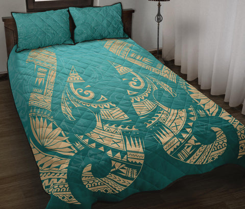 New Zealand Maori Hei Matau Tattoo Quilt Bed Set K5 - 1st New Zealand