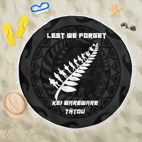 Image of Anzac Tattoo New Zealand, Lest We Forget Beach Blanket K5
