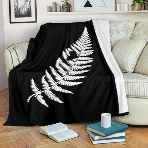 Image of Silver Fern With Heart New Zealand Blanket K5 - 1st New Zealand