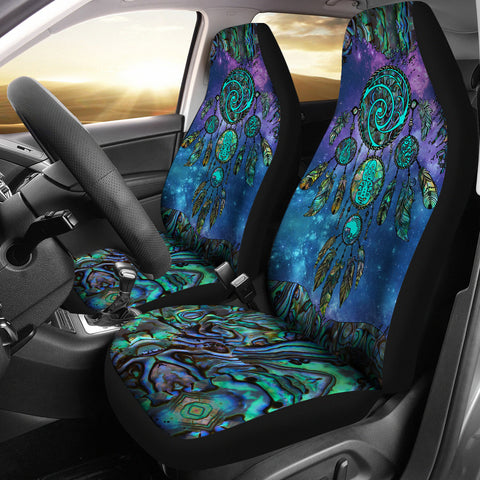 Image of New Zealand Dreamcatcher Car Seat Covers Paua Shell K4