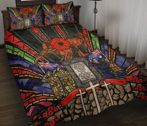 Image of New Zealand Quilt bed Set, Anzac Day Lest We Forget Australia Th00 - 1st New Zealand