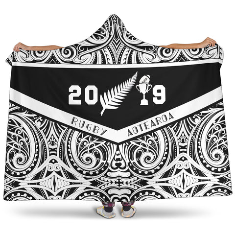 Hooded Blanket - Rugby Aotearoa Win 2019 Hooded Blanket - Youth 60x45 - Adult 80x60