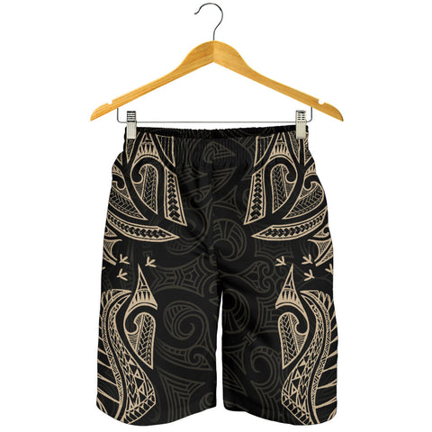 New Zealand Maori Tattoo, Ta Moko Men Shorts - Tan K5