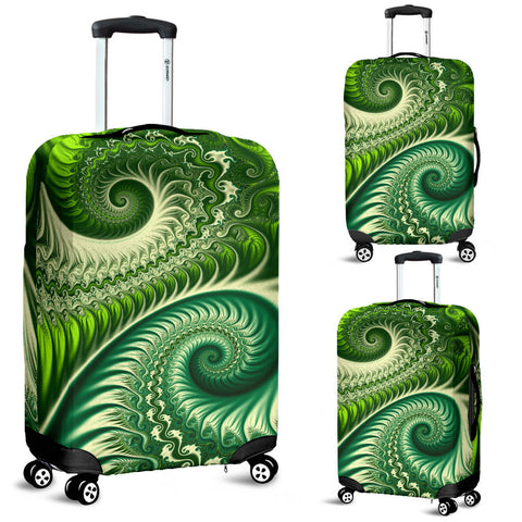 New Zealand Luggage Cover, Koru Silver Fern Suitcase Covers K4 - 1st New Zealand