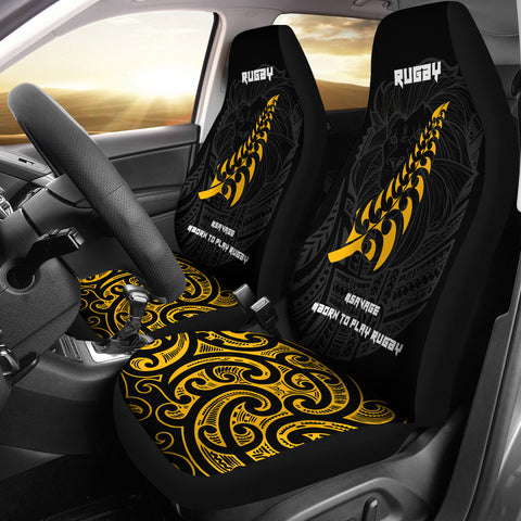 New Zealand Maori Lion Rugby Car Seat Covers K5 - 1st New Zealand