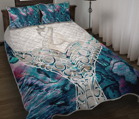Whale Tail Manaia New Zealand Quilt Bed Set K5 - 1st New Zealand