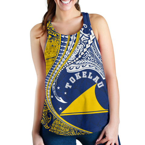Tokelau Women's Racerback Tank Manta Polynesian TH65 - 1st New Zealand