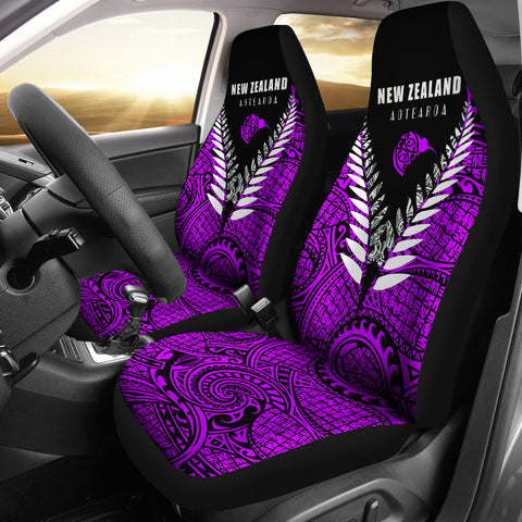 New Zealand Aotearoa Silver Fern Car Seat Covers - Violet Vline Version K4 - 1st New Zealand