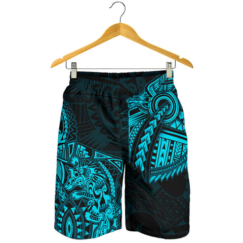 New Zealand Maori Polynesian Dragon Tattoo Men Shorts - Blue| 1st New Zealand