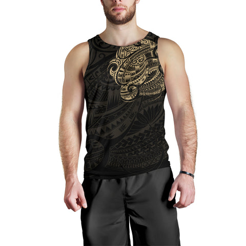 Maori Tattoo Style Tank Tops For Men - Gold Version A74 - 1st New Zealand