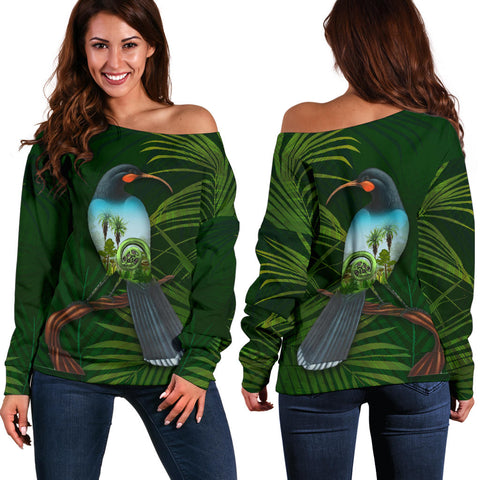 Huia Bird New Zealand Women's Off Shoulder Sweater K5 - 1st New Zealand