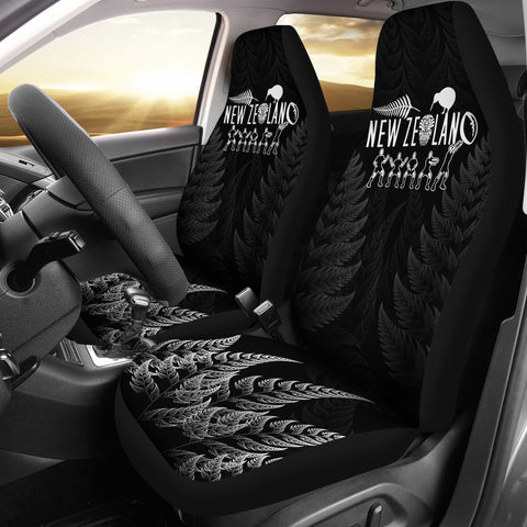 New Zealand Silver Fern Haka Car Seat Covers K4 - 1st New Zealand