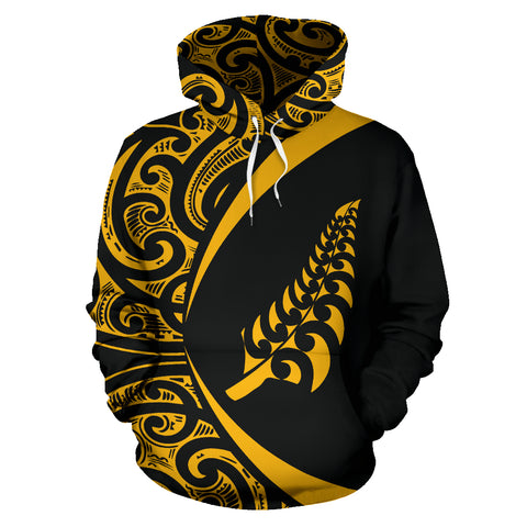 New Zealand Hoodie Maori Silver Fern - Circle Style J95 - 1st New Zealand
