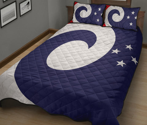 New Zealand Flag Koru Fin Quilt Bedding Sets K5 - 1st New Zealand