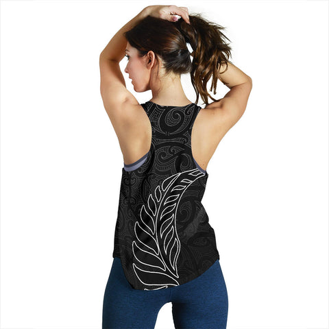Image of Aotearoa Silver Fern Women's Racerback Tank K4 - 1st New Zealand