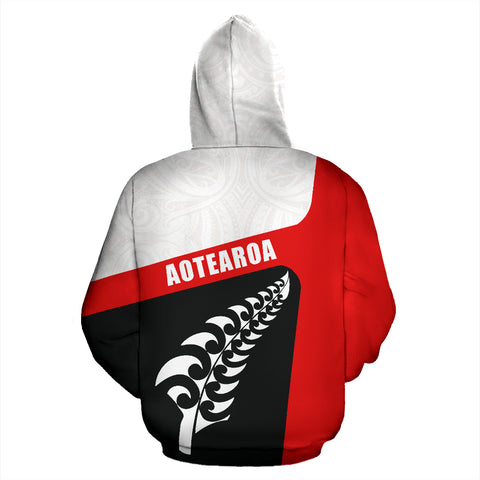 Image of Aotearoa Kiwi Fern Zip Up Hoodie back | New Zealand Hoodie