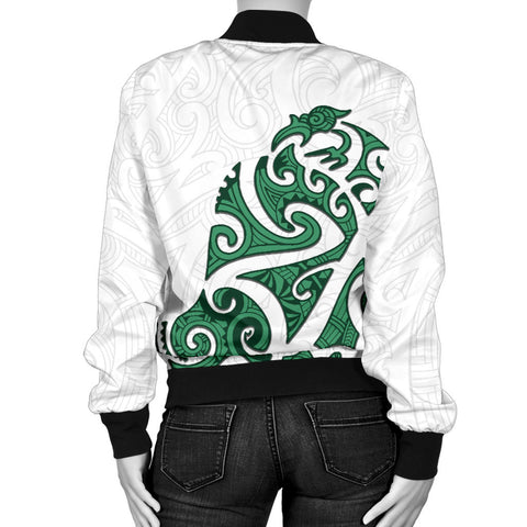 Image of Maori Protection Tattoo Bomber Jacket for Women K4 - 1st New Zealand