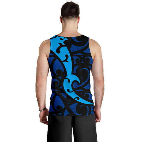 Image of Maori Blue Mangopare Men's Tank Th00 - 1st New Zealand