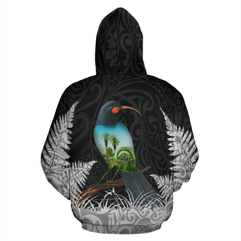Huia Bird New Zealand Hoodie K5 - 1st New Zealand