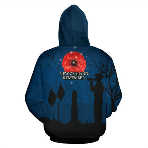New Zealand Anzac Hoodie, Lest We Forget Remembrance Day Hoodie K5 - 1st New Zealand
