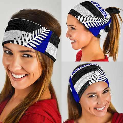 Aotearoa - New Zealand Silver Fern Pattern Maori Bandana TH5 - 1st New Zealand