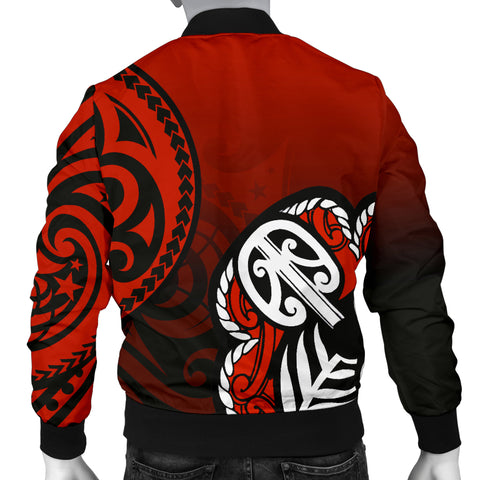 Lest We Forget - Maori Poppy Pullover Men's Bomber Jacket Th00 - 1st New Zealand