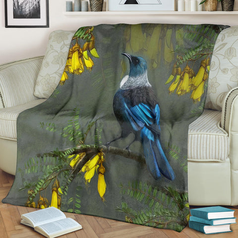 Kowhai Tui Bird New Zealand Blanket K5 - 1st New Zealand