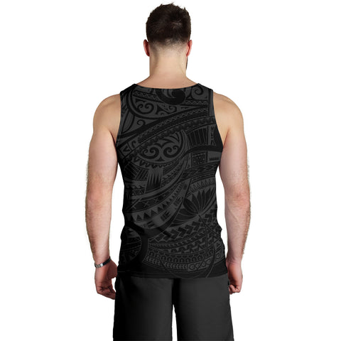 Maori Tattoo Style Tank Tops For Men - White Version A74 - 1st New Zealand